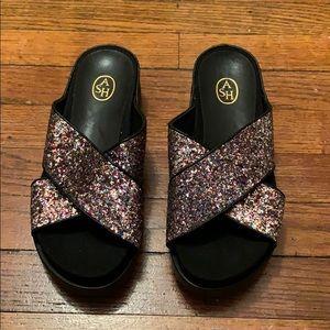 NWT ASH Glitter Sandals